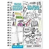 Agenda escolar de 2019-2020, tamaño A5, vista semanal, colorea tu propio planificador de mitad de año, WTV W2V, hazlo tú mismo