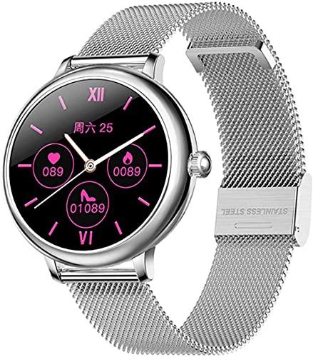 CF80 Full Touch Smart Watch Mujeres Apoyo Cámara Remota Dormir Hembra Ciclo Menstrual Smartwatch Deportes Reloj Inteligente para Android Ios-E