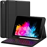 """Keyboard Case for iPad 8th Generation (2020)/7th Gen (2019) 10.2 Inch, 7 Backlight with Pencil Holder Detachable Wireless Keyboard Cover for New iPad 8th Gen/7th Gen 10.2"""", Backlit"""