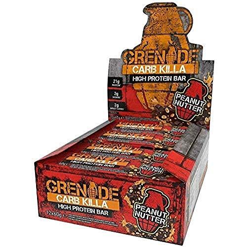 Grenade Carb Killa Barretta Proteica a Basso Contenuto di Carboidrati, 12 x 60g - Peanut Nutter