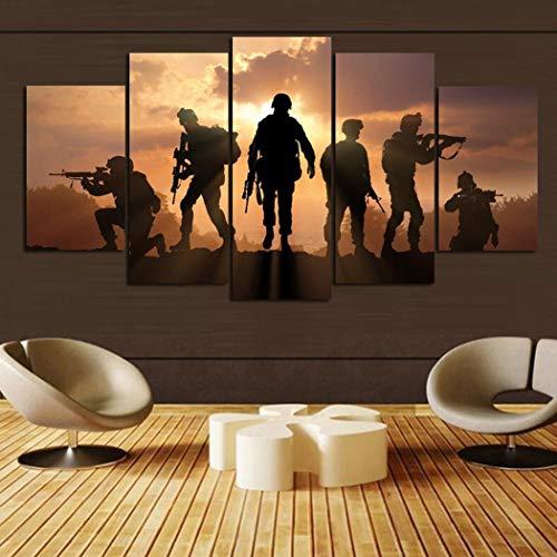 Modfine 5 Stücke Leinwand Wandkunst für Wohnzimmer Leinwand Wohnkultur ohne Rahmen Gemälde
