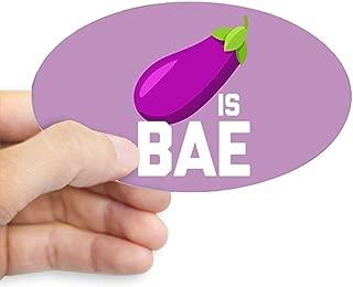 CafePress Emoji Eggplant is Bae Oval Bumper Sticker, Euro Oval Car Decal