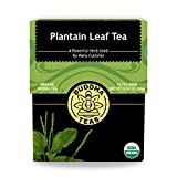 Organic Plantain Leaf, 18 Bleach-Free Tea Bags  Contains Essential Vitamins and Minerals, Antibacterial, Anti-inflammatory, Antiseptic, No GMOs, Caffeine-Free