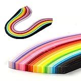 Set de tiras depapel para filigranas, 24 colores de 54 cm de largo, disponible en 5 o 10de ancho, 250 tiras, multicorlor, 5 mm