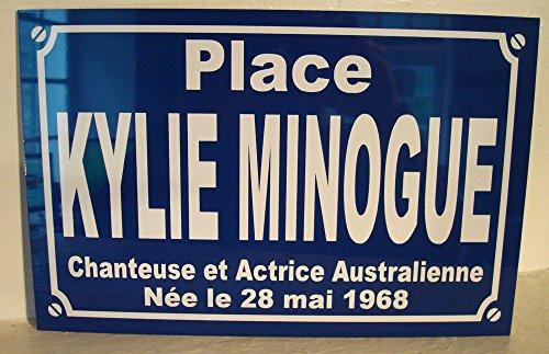 Noir & Mat Sérigraphie Place Kylie Minogue Plaque de Rue Objet Collection Cadeau pour Fan déco Originale