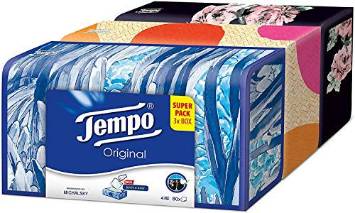 Tempo Taschentuch Box 80 Tücher