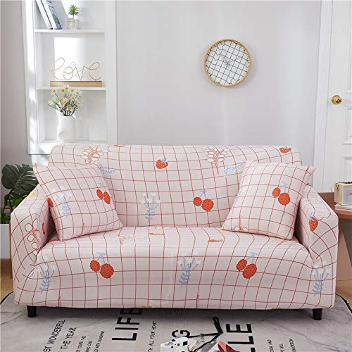 WXQY Funda de sofá Floral de poliéster, Funda de sofá retráctil para Sala de Estar, Funda de sofá elástica para Silla, Funda de sofá, Toalla, Funda de sofá A5 3 plazas