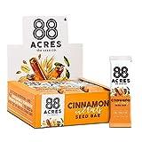88 Acres Granola Bars | Cinnamon Maple | Gluten Free, Nut-Free Oat and Seed Snack Bar | Vegan & Non GMO | 12 Pack