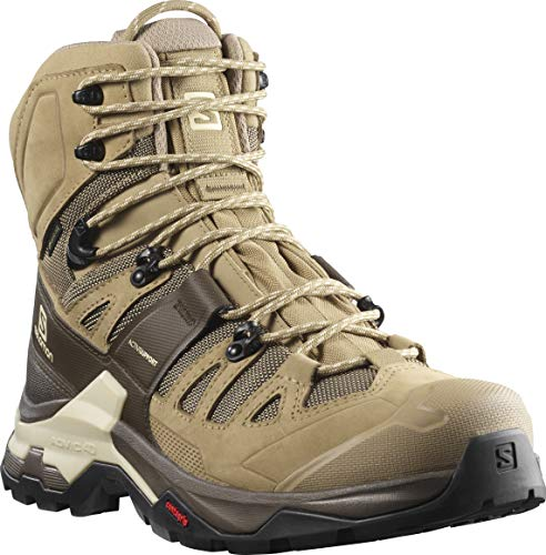 Salomon Men's Quest 4 GTX Hiking, Kelp/Wren/Bleached Sand, 9.5
