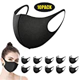 Sooair Mouth Guard Mask Black Pack of 10 Dust Face Mask for Running Cycling Skiing and Outdoor Activities...