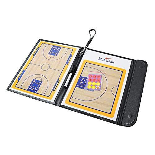 Junenoma Magnetic Coaching Board Basketball Fußballtrainer Tactical Clipboard Faltbares Athletiktraining Board Wiederbeschreibbar Coach Lieferungen Basketball