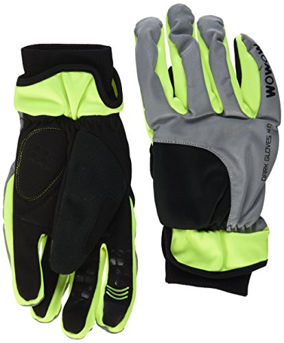 WOWOW Dark Gloves 4.0 - Winterhandschuhe superisolierend mit Reflexion - Touchscreen Bedienung (XL)