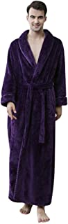 IFOUNDYOU 2019 New Couple Models Solid Thicken Coral Fleece Robe Bathrobe Gown Pajamas Sleepwear Pocket Long Dressing Gown...