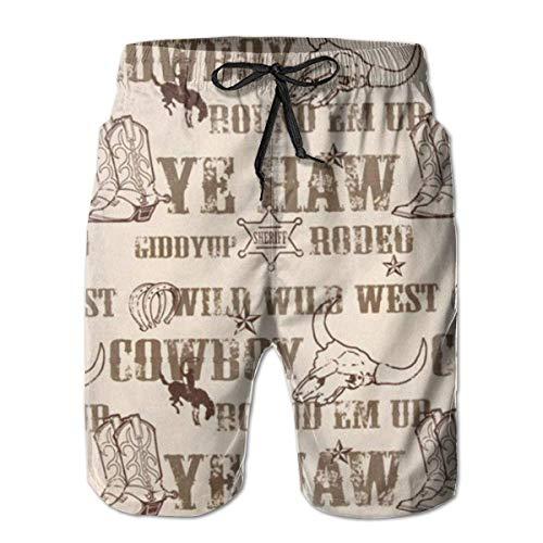 136 Cowboy Culture - Bañador para hombre, secado rápido, deportes, playa, surf, correr, natación, pantalones cortos