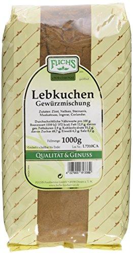 Fuchs Lebkuchen Gewürzmischung, 1er Pack (1 x 1 kg)
