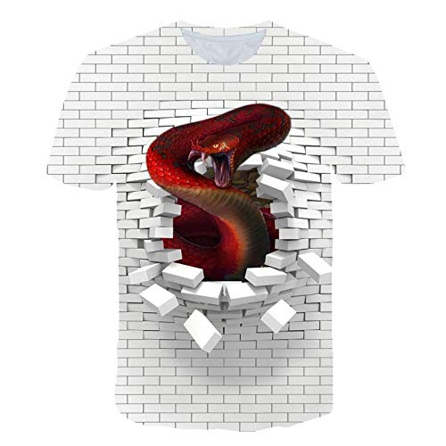 T-Shirts Hole Wall Pink Floyd Animal 3D Digital Printing Loose Couple Short Sleeve-A-0015,S