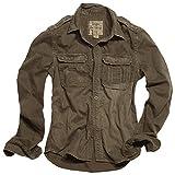 Surplus Raw Vintage Hemd Langarm Braun Größe XL