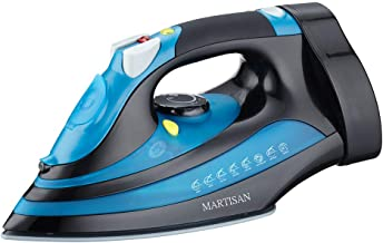 MARTISAN Steam Iron, Iron with Retractable Cord, 1200W Auto Shut Off, Anti-Drip, Anti-Calc Full Function Ceramic Soleplate...