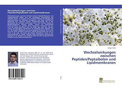Wechselwirkungen zwischen Peptiden/Peptaibolen und Lipidmembranen