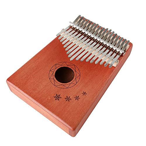 ZIEO Pocket Thumb Finger Piano17-Ton Kalimba Daumen Klavier Holz Mahagoni Körper Musikinstrument Finger Daumen Klavier