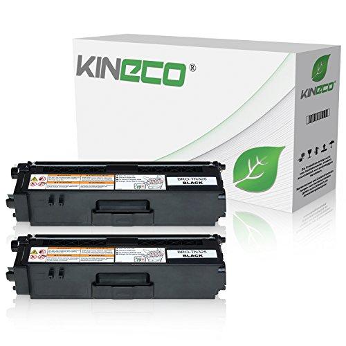 Kineco 2 Toner kompatibel für Brother TN-325 für Brother HL-4140CN, DCP-9055CDN, DCP-9270, HL-4150, HL-4570, MFC-9460CDW, MFC-9970, MFC-9560 - TN-325BK - Schwarz je 4.000 Seiten