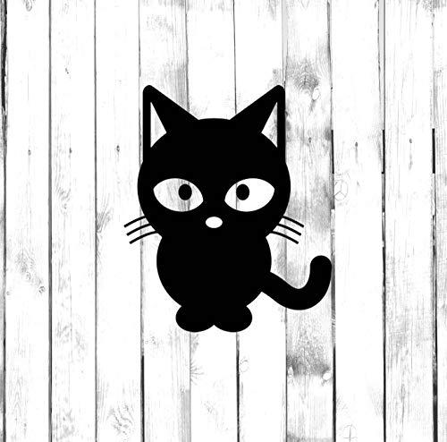 43LenaJon Pegatina de gato para bebé, gatito, ojos grandes Di Cut calcomanía para el hogar, computadora portátil, coche, parachoques de vinilo