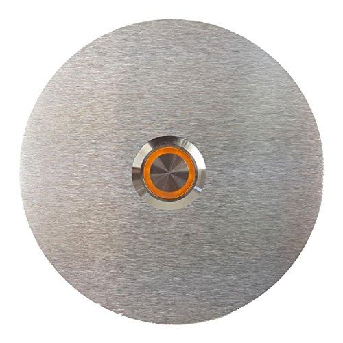 Türklingel aus Edelstahl Haustürklingel Klingelschild Klingel Klingelplatte LED Beleuchtung (90 mm Durchmesser)