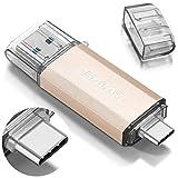 THKAILAR 128GB USB-C Flash Drive USB 3.0 de Alta Velocidad Thumb Drive C para música/TV/Video/Almacenamiento Externo de Datos, Pen Drive Memory Stick para teléfonos Inteligentes/PC/Galaxy/MacBook Pro