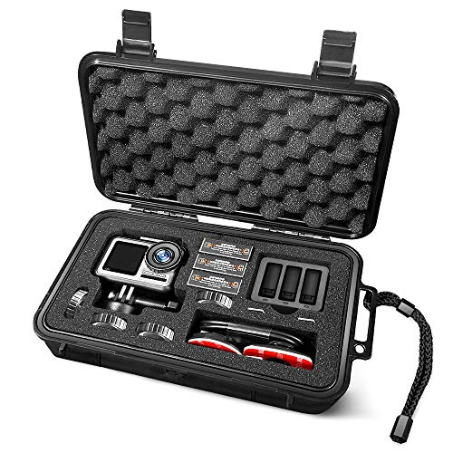 Lekufee Mini wasserdichte Tragetasche Hartschalenkoffer für DJI Osmo Action Digitale Actionkamera und Zubehör