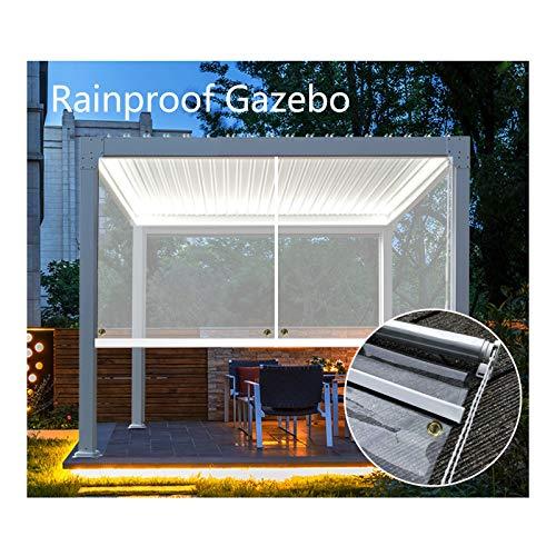 GDMING Tende A Rullo All'aperto, Impermeabile Robusto Finestra/Porte Antipioggia Le Tende per Balcone Pergola Gazebo Terrazza Gommini Antivento, 41 Dimensioni (Color : Chiaro, Size : 1x2.5m)