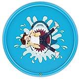 JTYX Hai Splash Pad,Sprinkler Play Matte,170cm Sommer Garten Wasserspielzeug Kinder Baby Pool für Outdoor Familie Aktivitäten/Party/Strand/Kinder, Haustiere
