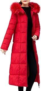 UJUNAOR Down Coat Women's Waterproof Parka Hooded Long Cotton Ladies Winter Jacket Puffer Jackets Fur or Faux Fur Outerwea...