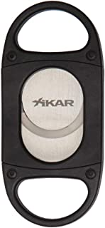Xikar X8 Cigar Cutter, Stainless Steel Blades, Cuts Up to 70 Ring Gauge, Black