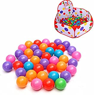 Mathenia, 100PCS 5.5cm Soft Plastic Ocean Ball Secure Kid Pit Toy Swim Colorful Ball Toy
