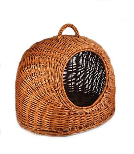 Wunderschöne Korbhöhle Katzenhöhle Katzenkorb Hundekorb aus Rattan, Weide geflochten K5-081