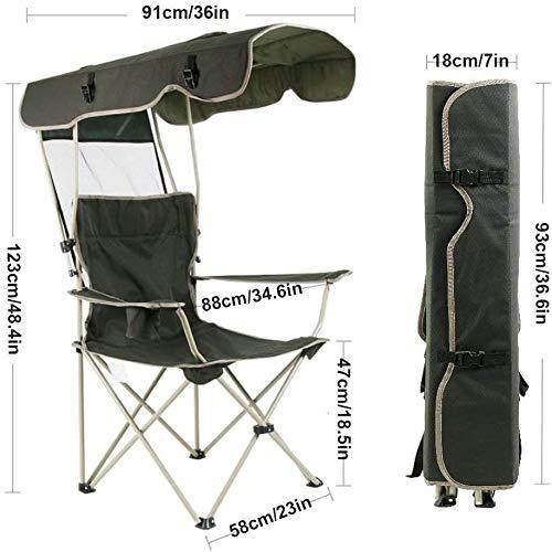 Silla Plegable al Aire Libre Silla Colgante de Pescar portátil Shade Beach Barbacoa Silla de Camping Plegable Almuerzo Rotura Silla