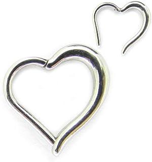 316L 16ga Acero quirúrgico Clikcer con bisagras Corazón Daith Helix Rook Piercing Ring