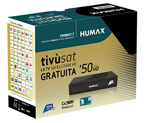 Ricevitore satellitare DVB-S2 Tivusat Humax Tivumax LT HD-3800S2 con scheda HD Tivusat inclusa