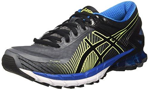 Asics Gel-Kinsei 6, Zapatillas de Entrenamiento Hombre, Gris (Carbon / Black / Electric Blue), 49 EU