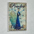 Peacock Powder Room Bathroom Wall Plaque Sign