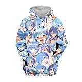 Re: Zero: Starting Life in Another World Sudadera con Capucha Unisex Anime Re: Zero: Starting Life in Another World Sudadera con Capucha Cosplay