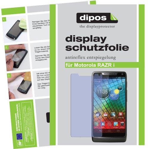 dipos I 2X Schutzfolie matt kompatibel mit Motorola RAZR I Folie Bildschirmschutzfolie