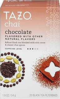 Tazo Filter Bag Tea, Chocolate Chai, 20 Count (Pack of 6)