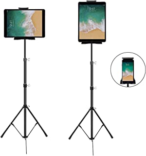"""Phone and iPad Tripod Stand, Dream-C Foldable iPad Floor Stand 20 To 50 Inch Height Adjustable 360 Rotating Tablet Tripod Mount for iPad Mini, iPad Pro 10.5"""" 9.5`` all 4-12 Inch Devices, Carrying Bag"""