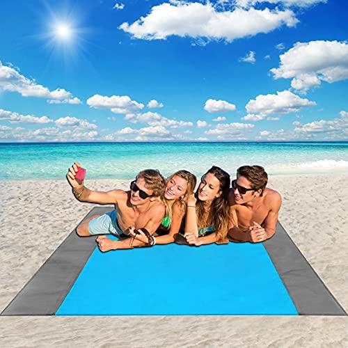 URXTRAL Beach Blanket Sandproof Waterproof, Sand Free Beach Blanket...