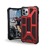 Urban Armor Gear Monarch Funda Apple iPhone 11 Pro (5.8') Carcasa Protector Case (Compatible con Carga Inalámbrica, Ultra Resistente Slim Cover, Cuero) - rojo
