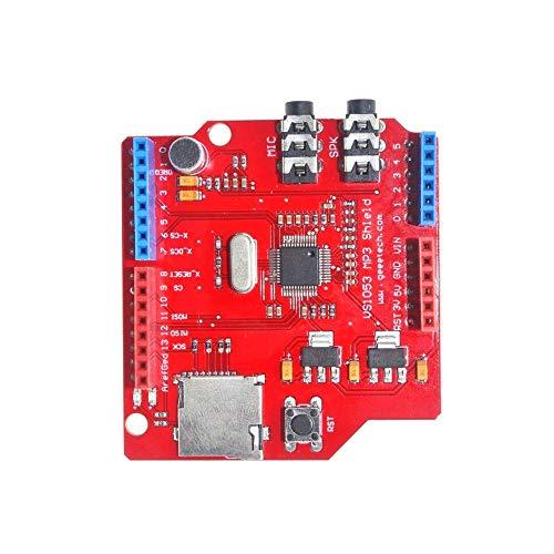 Un known VS1053 VS1053B Stereo Audio MP3 Player Shield Record Decode Development Board Module With TF Card Slot For Arduino R3 Accessory Removable Replacement