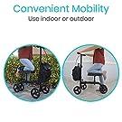 Vive Mobility Knee Walker - Steerable Scooter for Broken Leg, Foot, Ankle Injuries - Kneeling Quad Roller Cart - Seat Pad for Adult and Elderly Medical - 4 Wheel Caddy Crutch - Bag Included (Black) #2