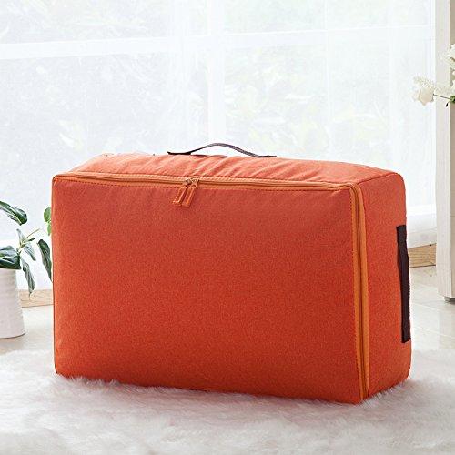 MZP Oxford imperméable à l'eau tronc boîte maintien de rangement des vêtements en tissu, boîte de rangement couettes de vêtements grands sacs pliants Cabernet , orange , m 55*35*20cm
