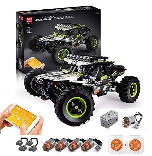 PEXL Technik 4x4 X-Treme Off-Roader Bausteine Bausatz, Technic Buggy mit 2.4G Fernbedienung und 5 Motoren, 1800 Klemmbausteine Kompatibel mit Lego Technic